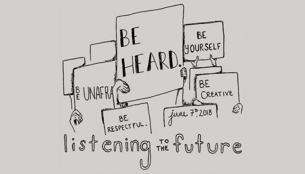 Listening-to-the-Future-T-Shirt-Front-wide
