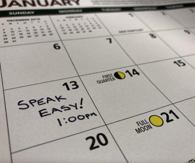 2019 Speak Easy Calendar