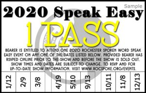 2020 Speak Easy 1 Pass