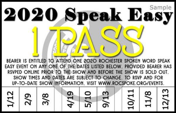 2020 Speak Easy 1 Pass