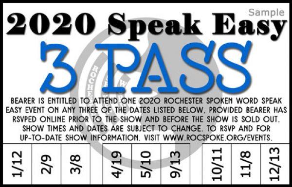 2020 Speak Easy 3 Pass