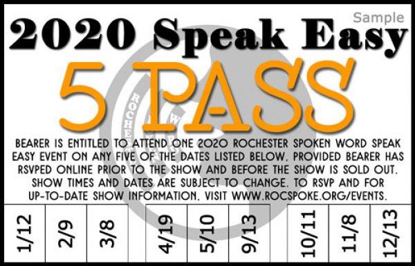 2020 Speak Easy 5 Pass