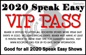 2020 Speak Easy VIP Pass